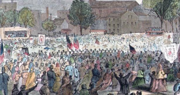 Painting of Emancipation Day Scene