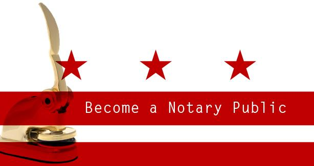 Image of Notary Stamp and DC Flag